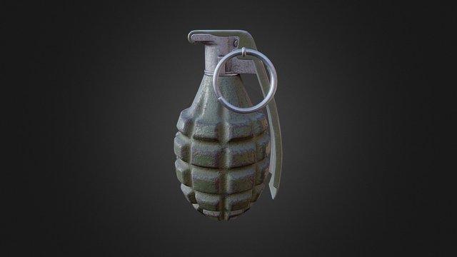 Mk. II Grenade 3D Model
