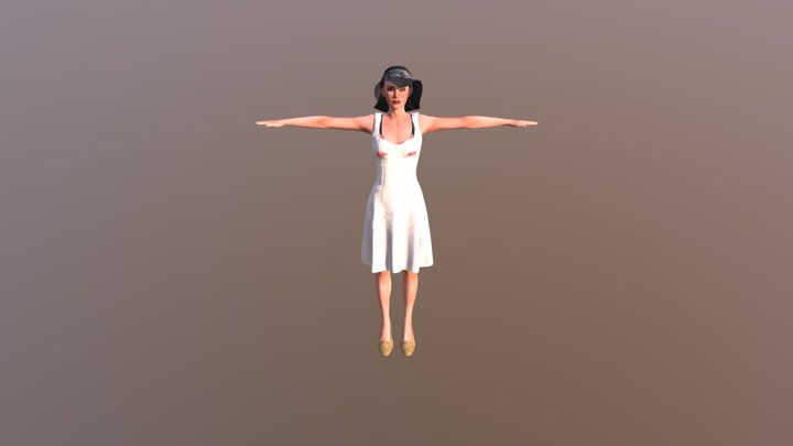 Woman 8 3D Model