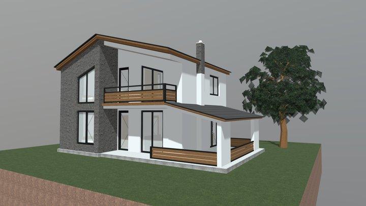 საცხოვრებელი სახლი 02 3D Model