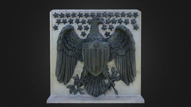 Soldiers' National Mounument - Bronze Eagle 3D Model