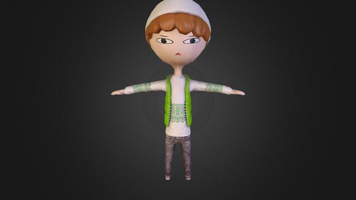 Tagi in T-pose 3D Model