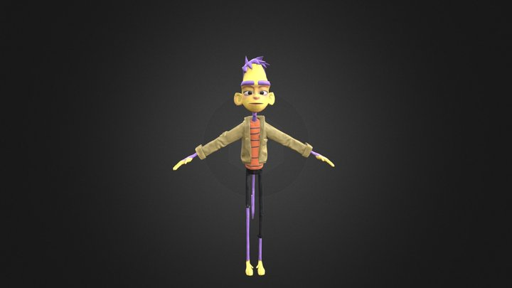 Monkey Character Model 3D Model