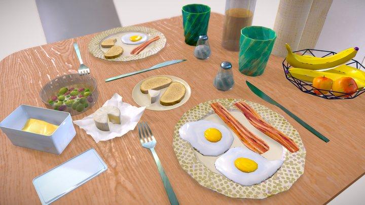 Favorite Breakfast 3D Model