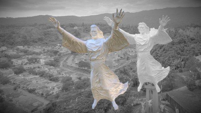 Monumen Yesus Memberkati Manado 3D Model