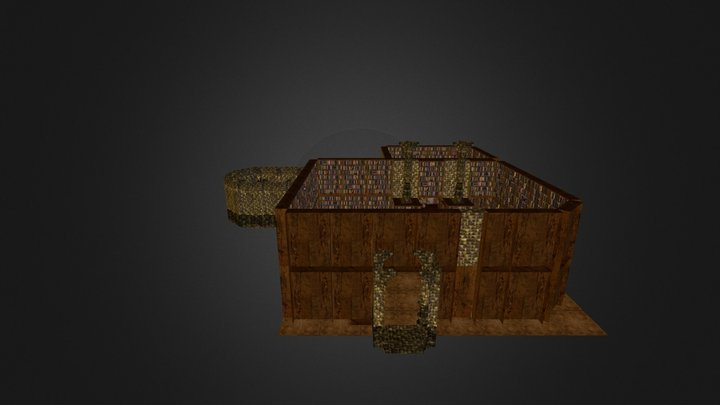 Library and Secret Lair 3D Model