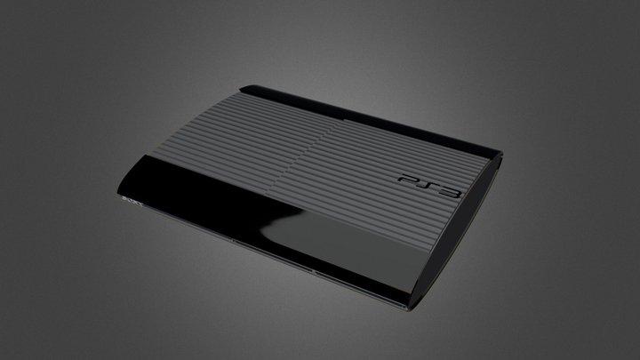 PlayStation 3 Super Slim 3D Model