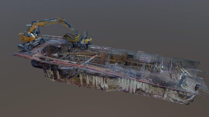 Open trench 3D Model