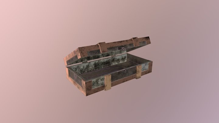 Old Empty Weapons Chest 3D Model