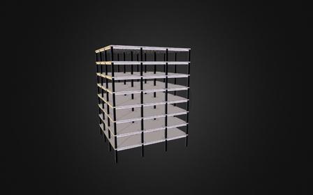 Estructura Losa Nervada 3D Model