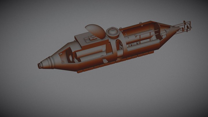 Model of the Flach Submarine 3D Model