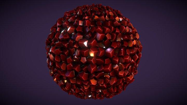 Stylized Crystal 3D Model