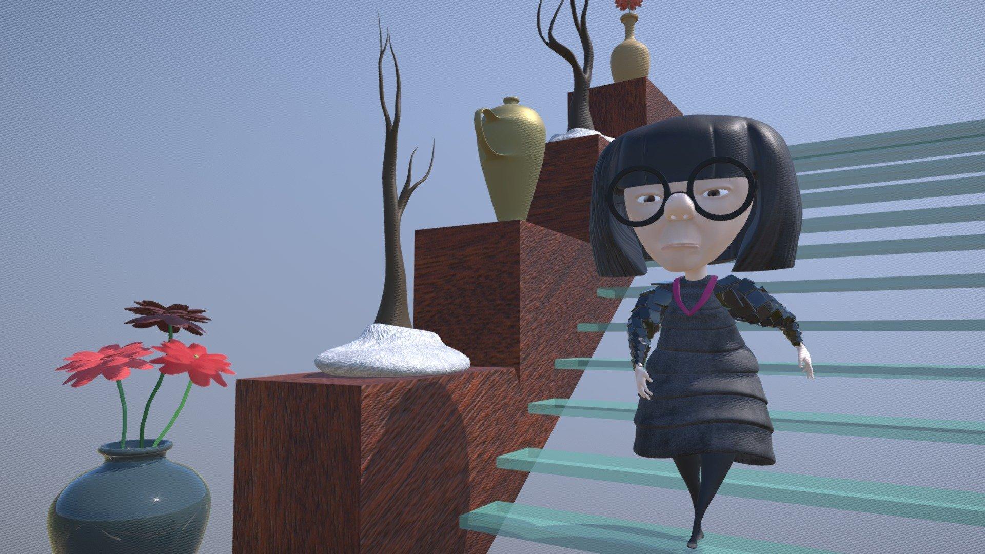 Edna Mode The Incredibles 3d Model By Oriolgarretabk Oriolgarrretabk Bcf1fc9 Sketchfab