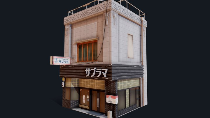 Japanese Style Shop 3D Model