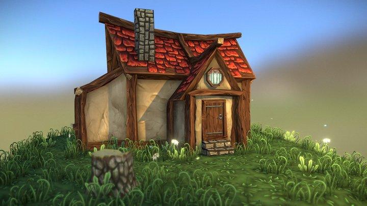 A Little House 3D Model