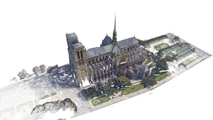 Notre Dame Spire Reconstruction 2  #NewPalmyra 3D Model