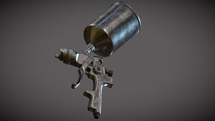 Spray Gun 3D Model