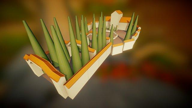 Polygon Villa 3D Model