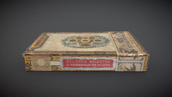 LA CORONITA - Antique Cigar Box 3D Model