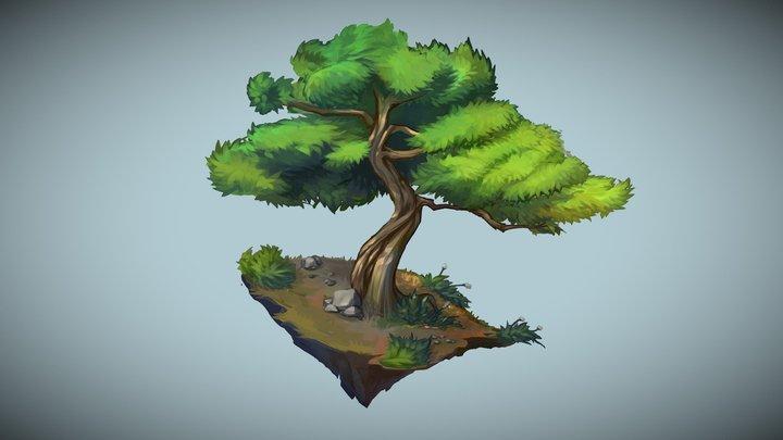 Stylized Juniper Tree 3D Model