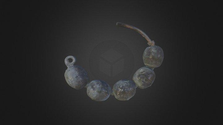 Многобусенное височное кольцо. Погребение № 4 3D Model