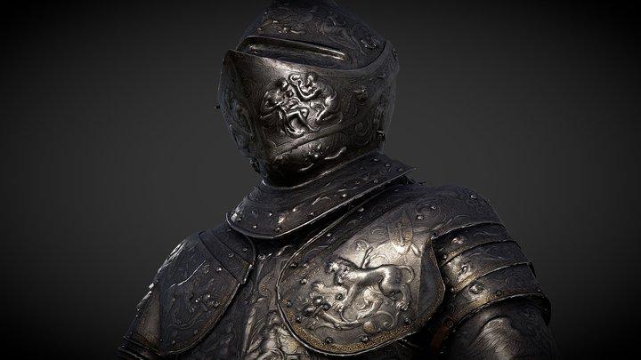The Parade Armour of King Erik XIV of Sweden 3D Model