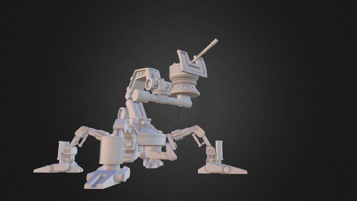 Spidertank Rigged 3D Model