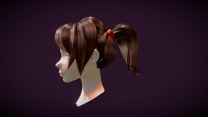 Free Hair 3D Model