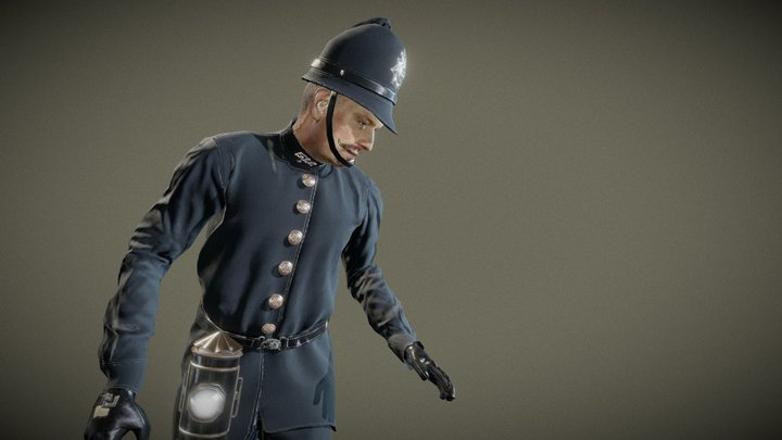 Police Man Character 3D Model
