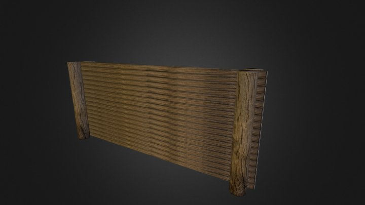 trench wall 3D Model
