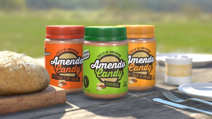 Amendo Candy Packshot 3D Model