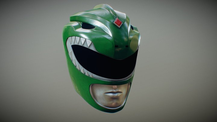 Green Ranger Helmet - wip 3D Model