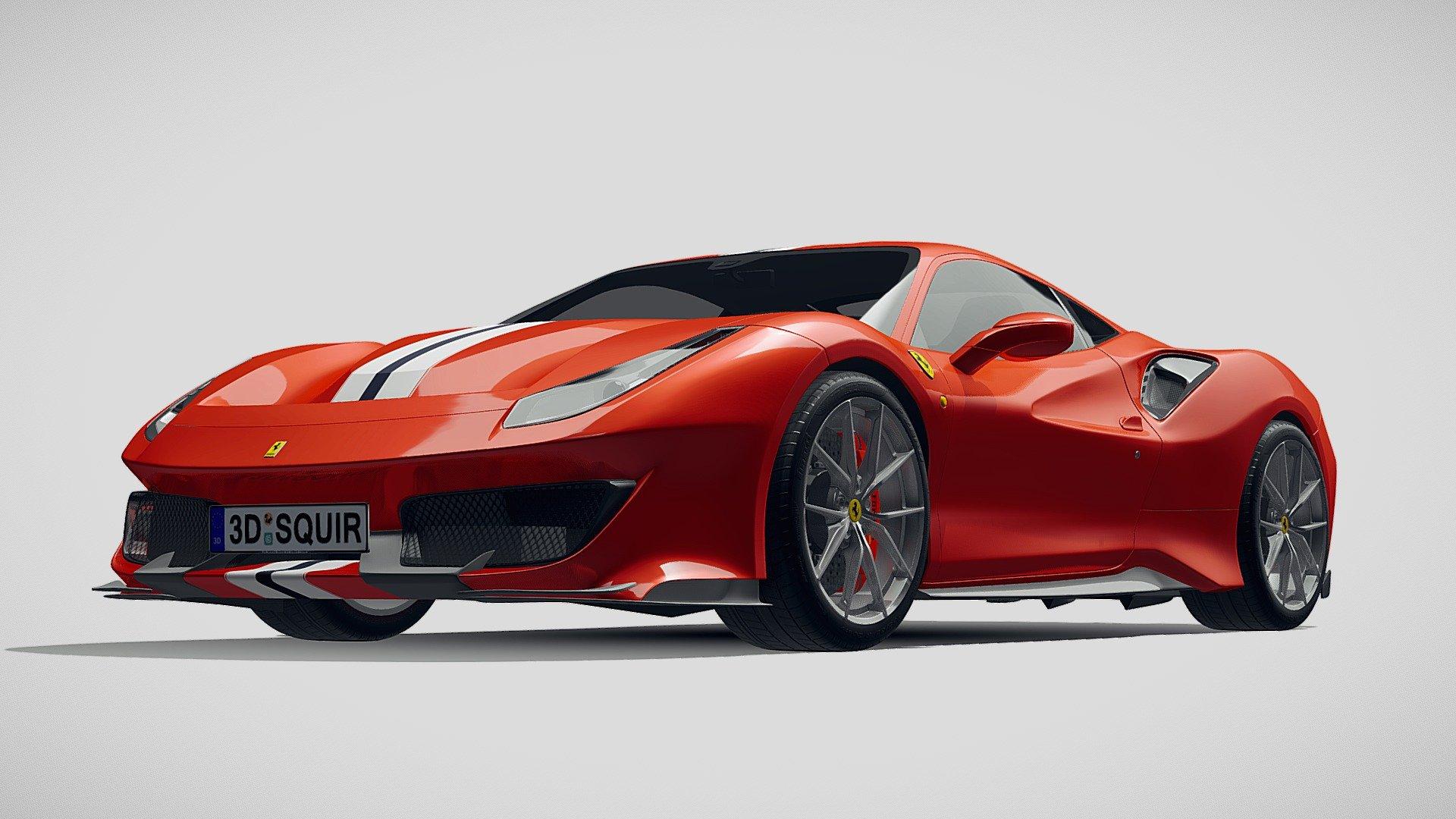 Ferrari 488 Pista 2019 Buy Royalty Free 3d Model By Squir3d Squir3d Bd3b59a