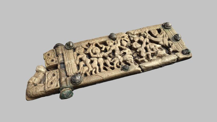 Bone belt buckle from Vevey - 7th c. AD 3D Model