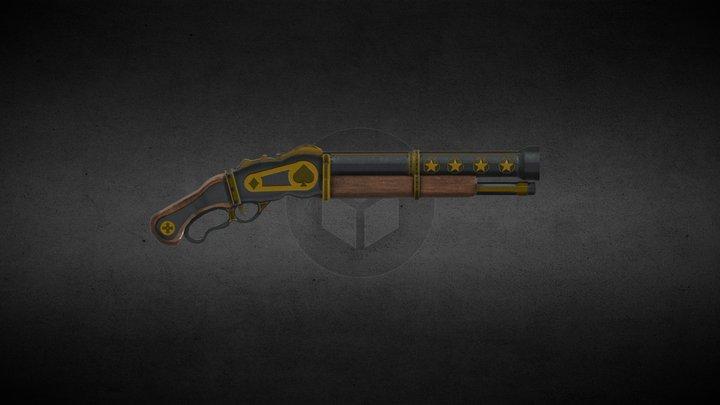 Old West Shotgun 3D Model