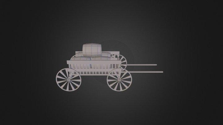 Carroça Medieval Simples 3D Model