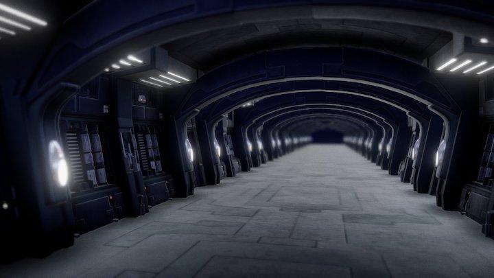 Grievous Ship Hallway   Star Wars Episode 3 3D Model