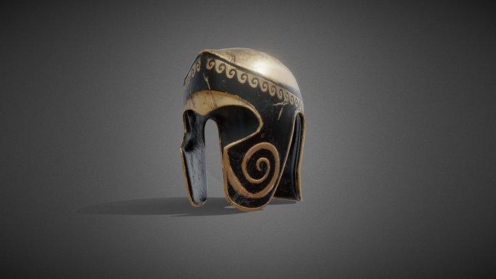 Ancient Greek Helmet Game Ready 3D Model