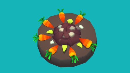 Carrot Counter 3D Model