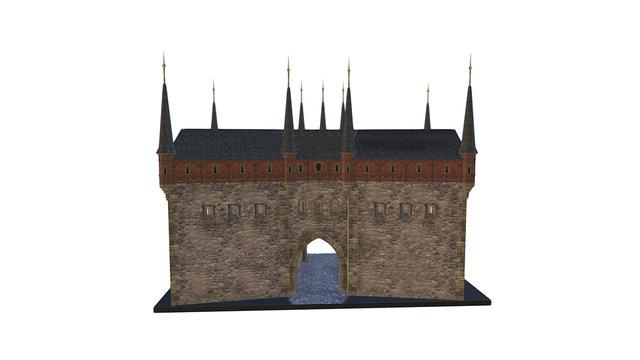 BRÁNA ŠPIČKA NA VYŠEHRADĚ 3D Model