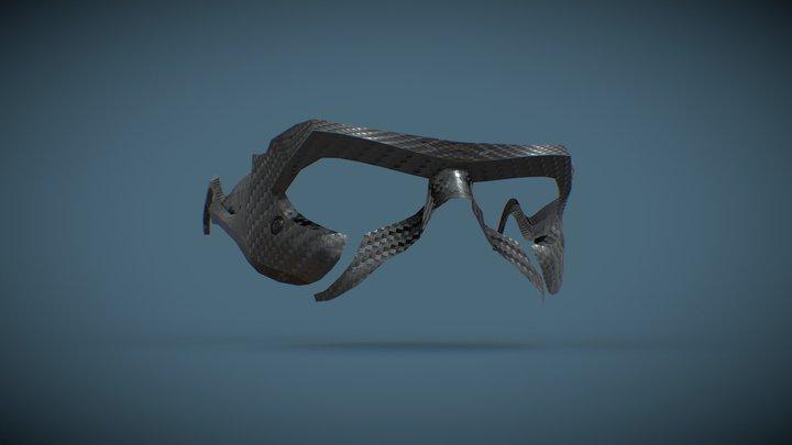 Ludens Sunglasses papercraft 3D Model