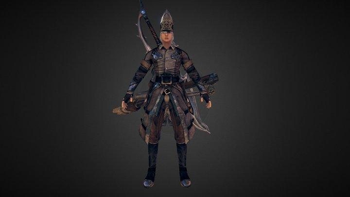 Nexgen game model- Warrior 3D Model