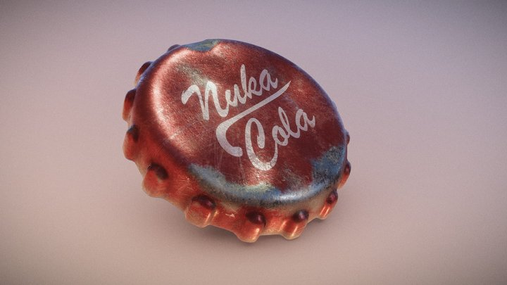 Nuka Cola Cap 3D Model
