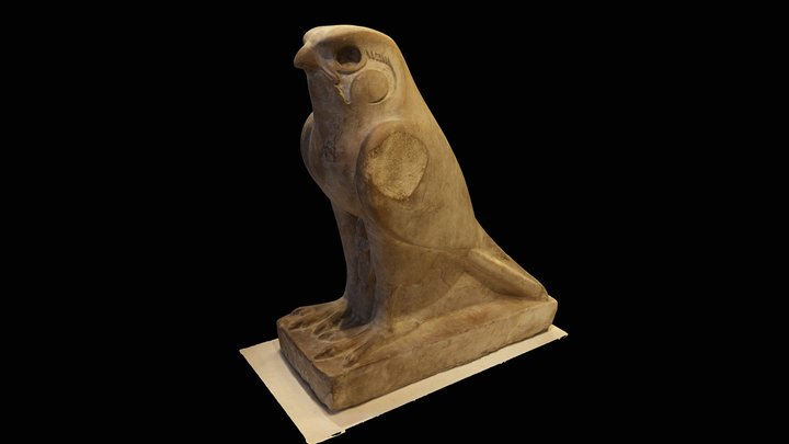 Falcon,ancient Egypt objects at Louvre 3D Model