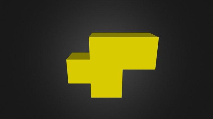 Yellow Puzzle Piece 3D Model