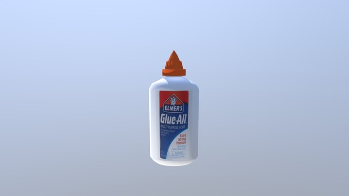 Glue Bottle 3D Model