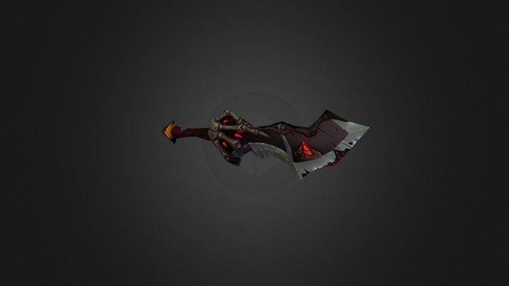 Graven Clasp fantasy sword 3D Model