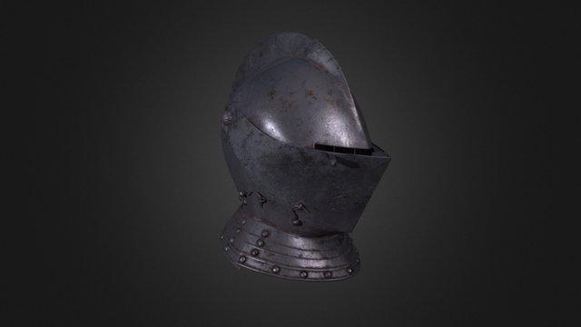 Italian Close-helm circa 1580 3D Model