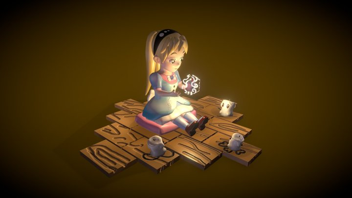 The Little Candles 3D Model