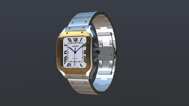 Cartier Santos Watch 3D Model