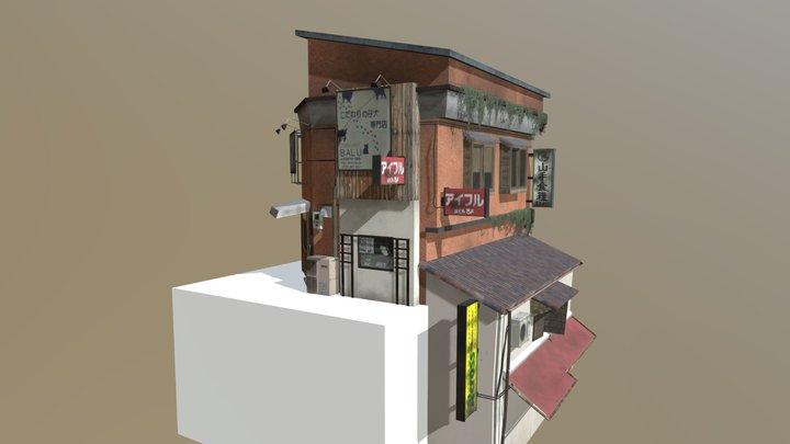 Kyoto cityscene: Cat Cafe 3D Model